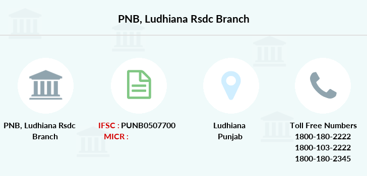 Punjab-national-bank Ludhiana-rsdc branch