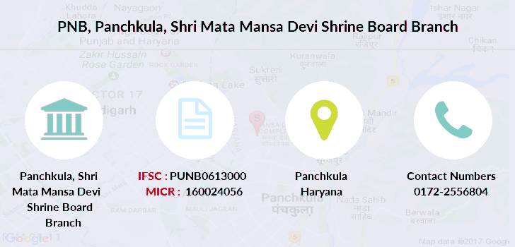 Punjab-national-bank Panchkula-shri-mata-mansa-devi-shrine-board branch