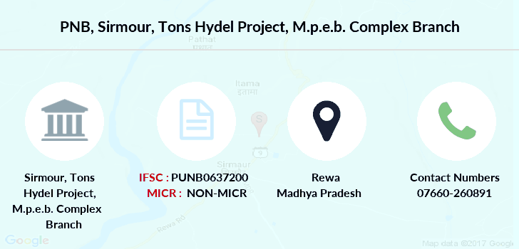 Punjab-national-bank Sirmour-tons-hydel-project-m-p-e-b-complex branch