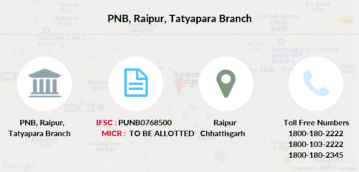 Punjab-national-bank Raipur-tatyapara branch