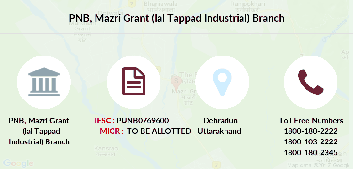 Punjab-national-bank Mazri-grant-lal-tappad-industrial branch