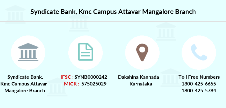 Syndicate-bank Kmc-campus-attavar-mangalore branch