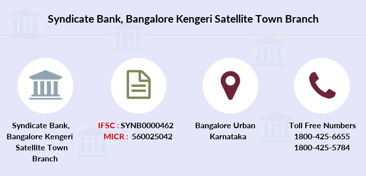 Syndicate-bank Bangalore-kengeri-satellite-town branch