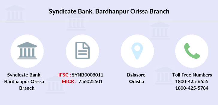 Syndicate-bank Bardhanpur-orissa branch
