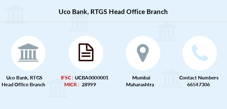 Uco-bank Rtgs-head-office branch
