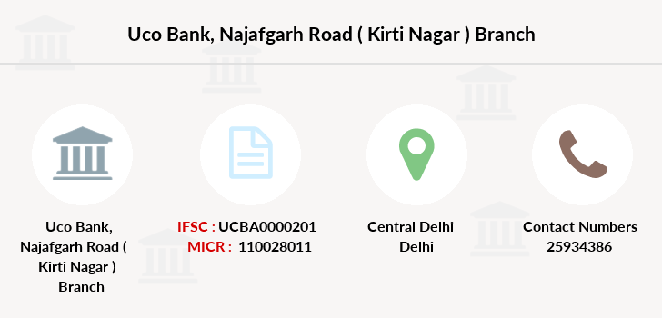 Uco-bank Najafgarh-road-kirti-nagar branch