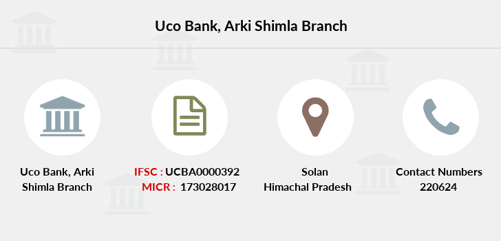 Uco-bank Arki-shimla branch
