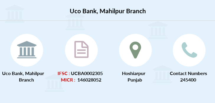 Uco-bank Mahilpur branch