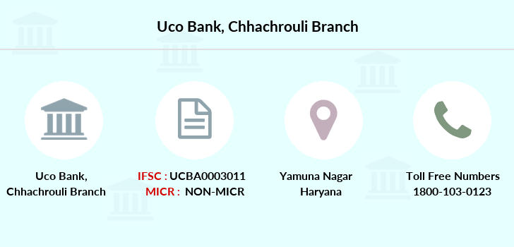 Uco-bank Chhachrouli branch