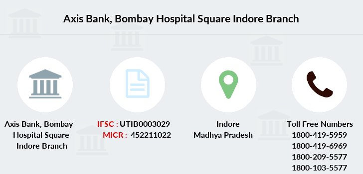 Axis-bank Bombay-hospital-square-indore branch