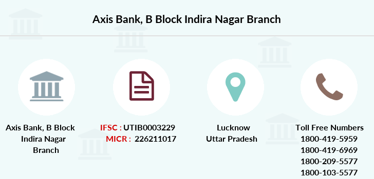 Axis-bank B-block-indira-nagar branch