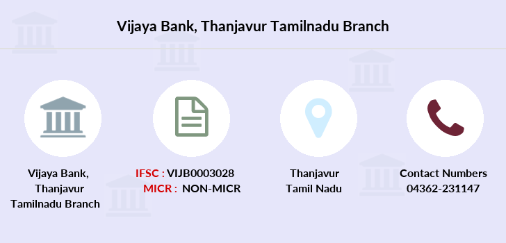 Vijaya-bank Thanjavur-tamilnadu branch