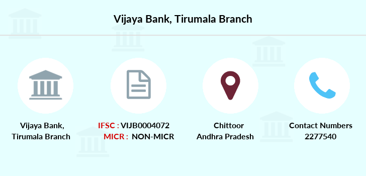 Vijaya-bank Tirumala branch