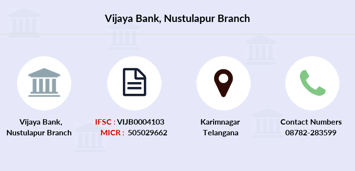 Vijaya-bank Nustulapur branch