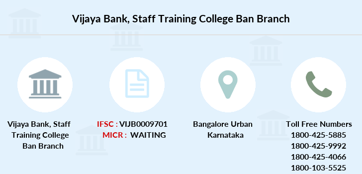 Vijaya-bank Staff-training-college-ban branch
