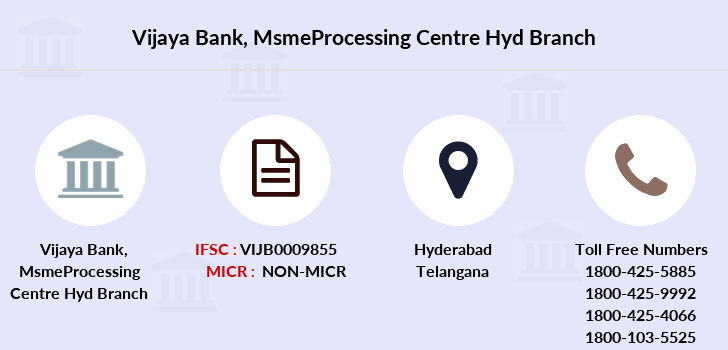 Vijaya-bank Msmeprocessing-centre-hyd branch