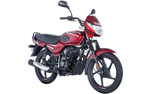 Bajaj CT 110 Front Side View (Gloss Flame Red with Bright Red Decals)