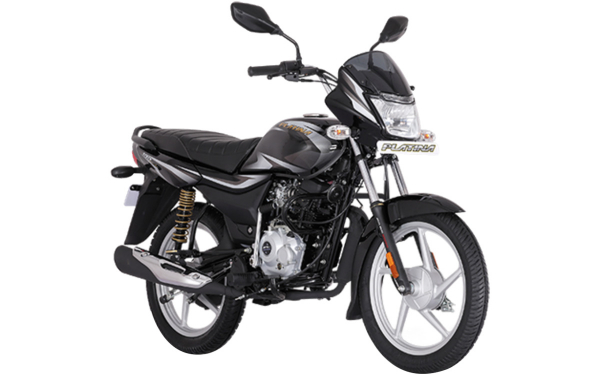 Bajaj Platina 100 Front Side View (Black)