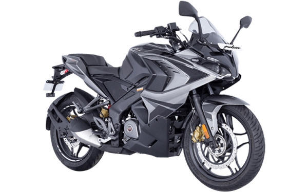 Bajaj Pulsar RS200 Front Side View (Graphite Black)