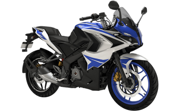 Bajaj Pulsar RS200 Front Side View (Racing Blue)