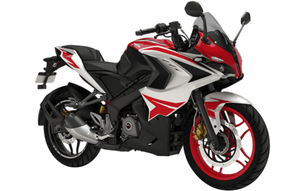 Bajaj Pulsar RS200 Front Side View (Racing Red)