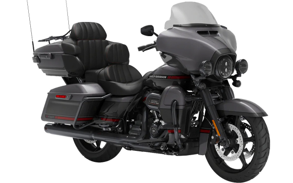 Harley Davidson CVO Limited Front Side View (Smoky Gray and Stormcloud)