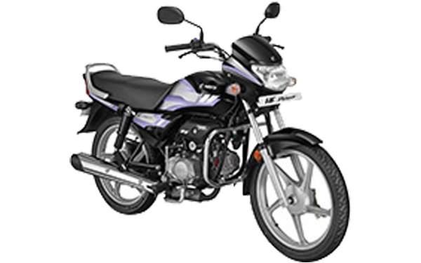 Hero HF Deluxe Front Side View (Black with Purple)