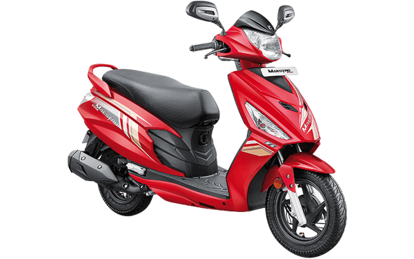 Hero Maestro Edge 110 Front Side View (Candy Blazing Red)
