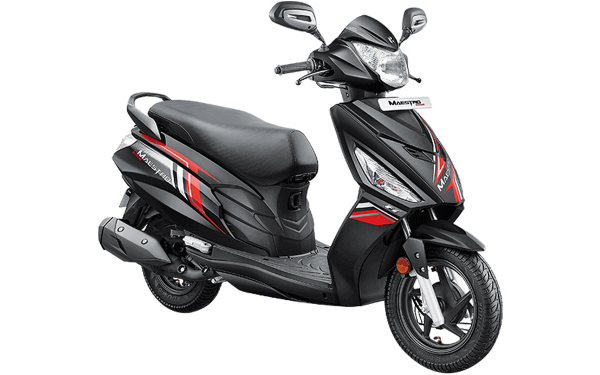 Hero Maestro Edge 110 Front Side View (Panther Black)