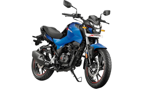 Hero Xtreme 160R Front Side View (Vibrant Blue)