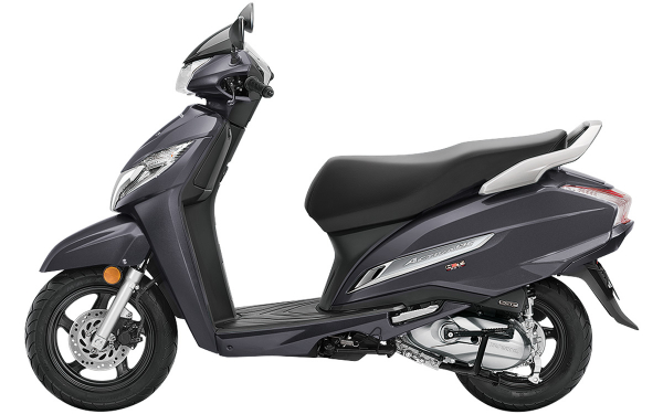 Honda Activa 125 Side View (Heavy Grey Metallic)