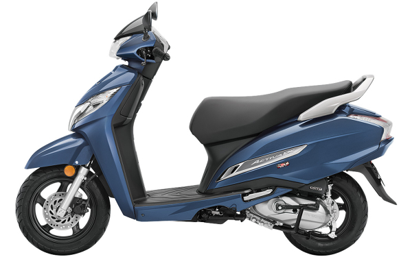 Honda Activa 125 Side View (Midnight Blue Metallic)