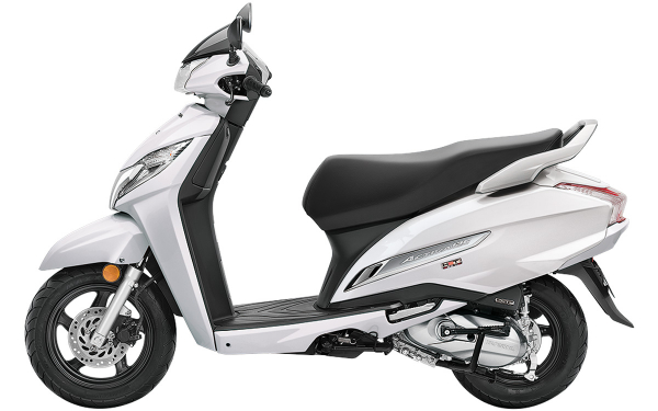 Honda Activa 125 Side View (Pearl Precious White)