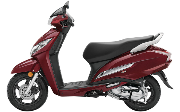 Honda Activa 125 Side View (Rebel Red Metallic)