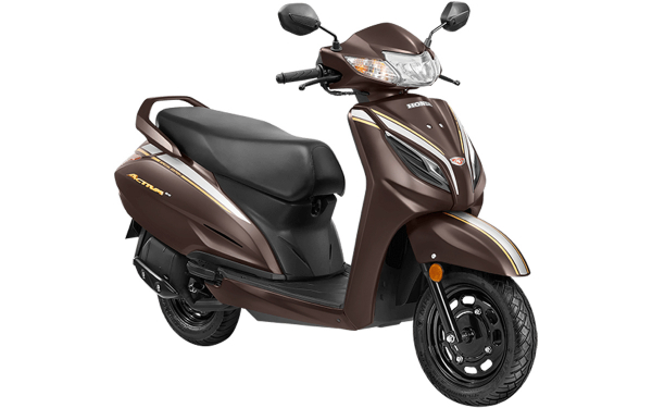 Honda Activa 6G Anniversary Edition Front Side View (Matte Mature Brown)