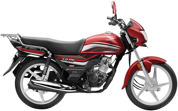Honda CD 110 Dream Deluxe Side View (Imperial Red Metallic)