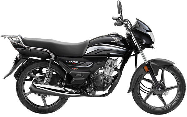 Honda CD 110 Dream Side View (Black with Grey)