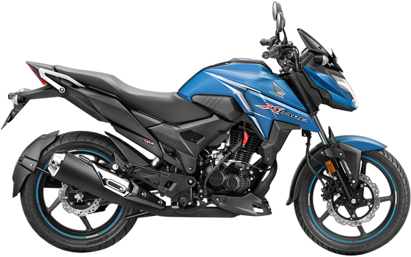 Honda X-Blade Side View (Matte Marvel Blue)