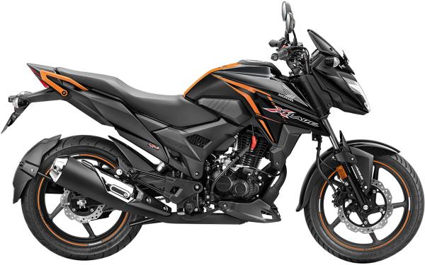 Honda X-Blade Side View (Pearl Igneous Black)