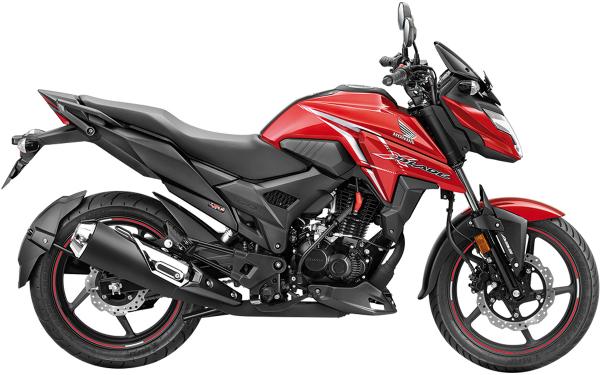 Honda X-Blade Side View (Pearl Spartan Red)