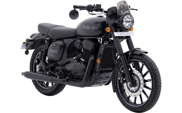 Jawa 42 Front Side View (All Star Black)