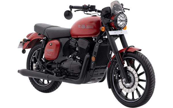 Jawa 42 Front Side View (Orion Red)