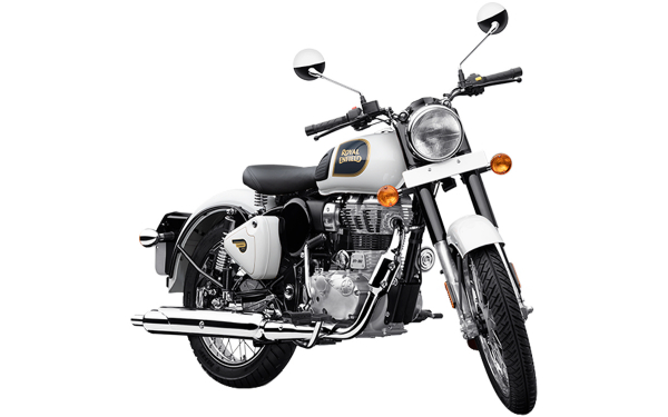Royal Enfield Classic 350 Single Channel Front Side View (Ash)