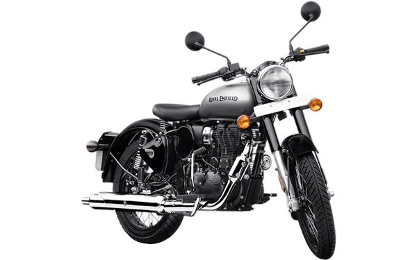 Royal Enfield Classic 350 Single Channel Front Side View (Mercury Silver)
