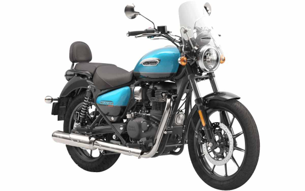 Royal Enfield Meteor 350 Supernova Front Side View (Blue)