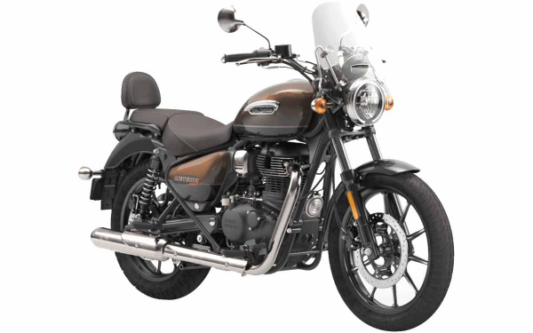 Royal Enfield Meteor 350 Supernova Front Side View (Brown)