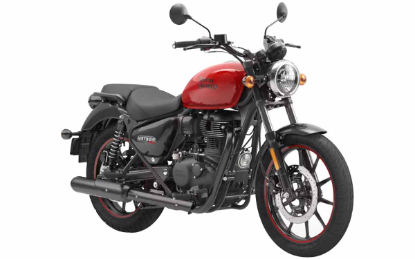 Royal Enfield Meteor 350 Fireball Front Side View (Red)