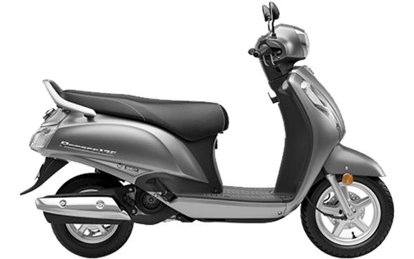 Suzuki Access 125 Side View (Mettalic matte Fibroin Gray)
