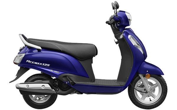 Suzuki Access 125 Side View (Pearl Suzuki Deep Blue)