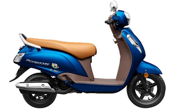 Suzuki Access 125 Special Edition Side View (Metalic Dark Greenish Blue)